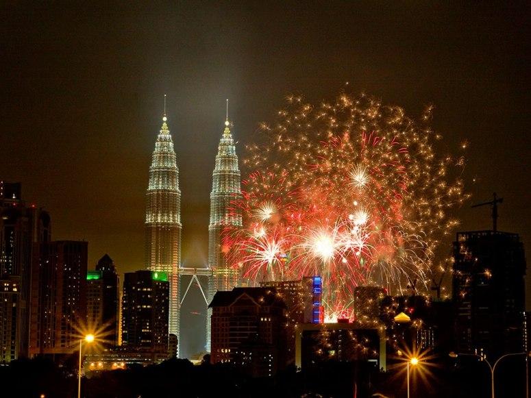new, year, celebration, crackers