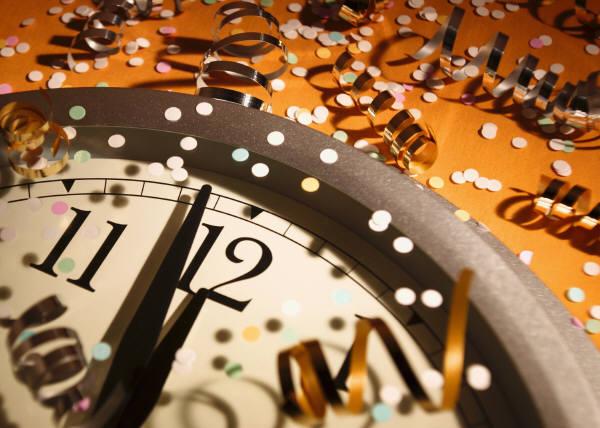 new, year, tick, tock, night