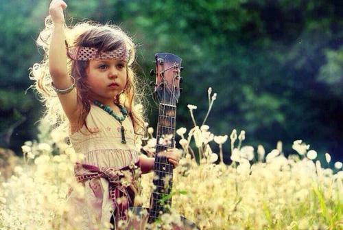 cute, kid, guitar, girl