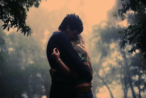 cute, sweet, hug, couple, nature
