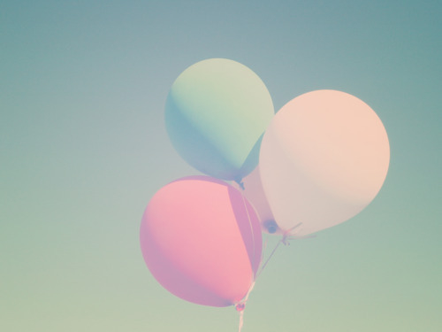 pastel, colors, balloons