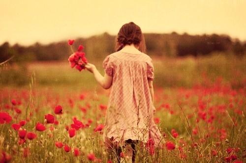 cute, kid, sweet, nature, flowers