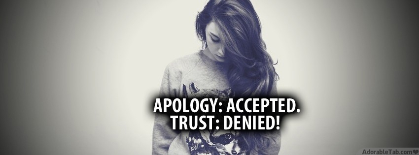 cute, girl, apology, accepted, trust, denied