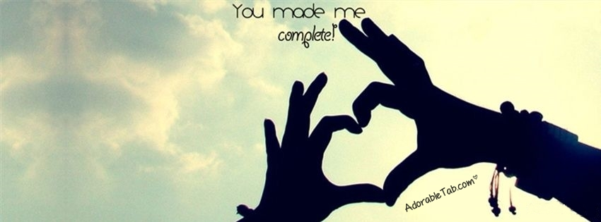 you, made, me, complete, cute, heart