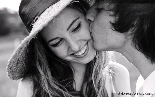 adorable cute sweet love kiss couple 187 adorabletabcom