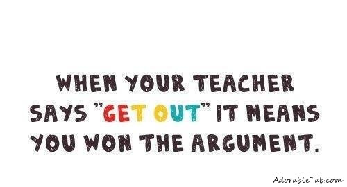student, won, argument, funny, fact